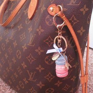 NEW! Macaroon Keychain Key Fob Handbag Charm